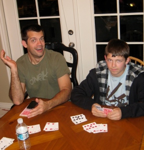 Nate's pretty confident about this hand