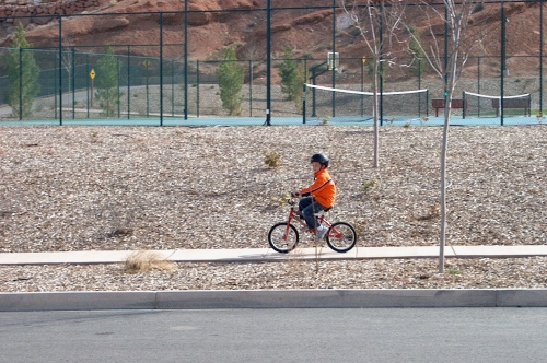 Lance Armstrong in training