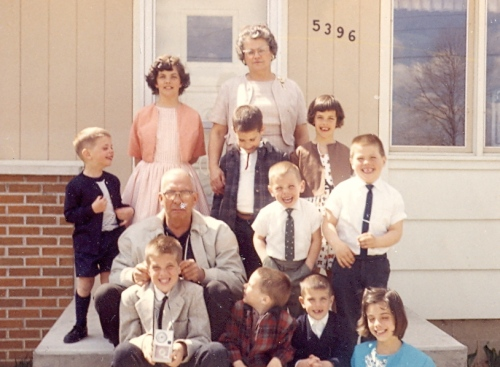 Gram and Pop with grandchildren - 1963