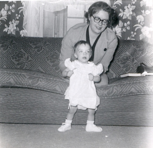 Joyce with Lynnette - 8 months old
