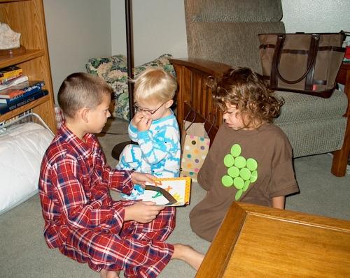 bedtime story - Jack, Charlie, Katie