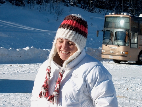 Snow bunny at Snowbird, Utah - December, 2006