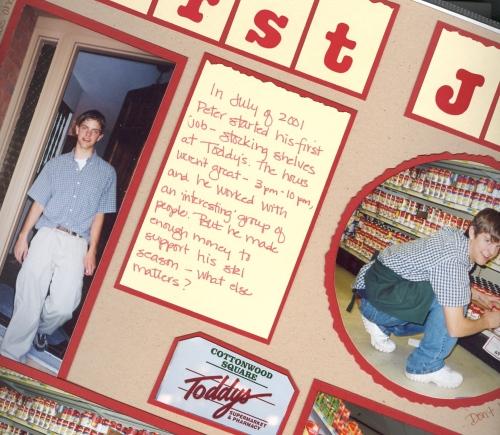 First job at Toddy's