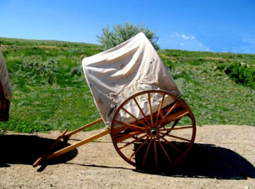 Replica of a handcart