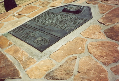 Plaque marking the site of the Willie Company rescue