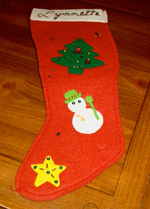 Vintage Christmas stocking - 1959