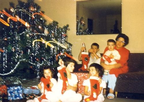 Berrett family Christmas - 1959