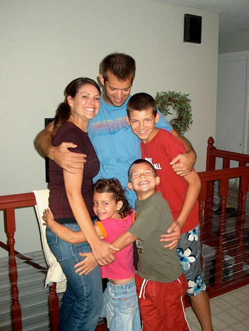 with the Sandberg kids - July, 1999