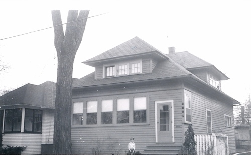 David in front of 1117 Phelon Street - about 1957