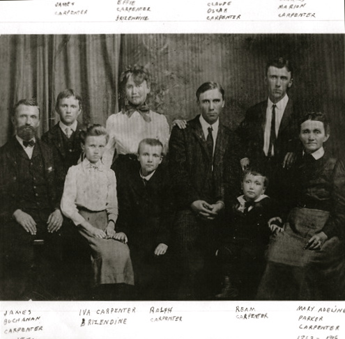James and Mary Carpenter family - circa 1903