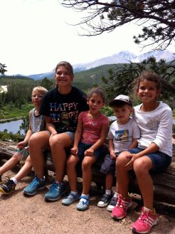grandkids on hike