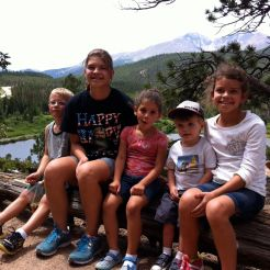 grandkids on hike