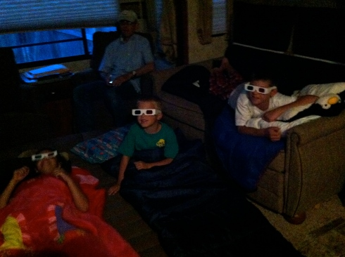 3-D Shrek in the 5th wheel theater