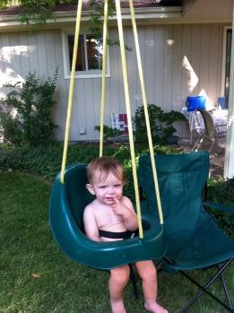 Parker loves a swing