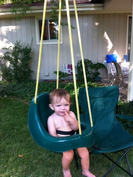 Parker loves a swing