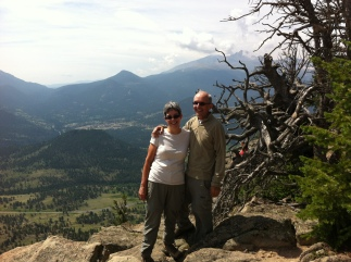 Twin Sisters peak behind us