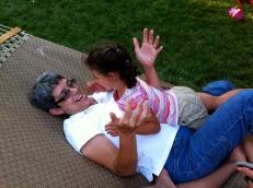 Lucy making Grandma giggle