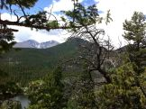 View of Longs Peak from our hike